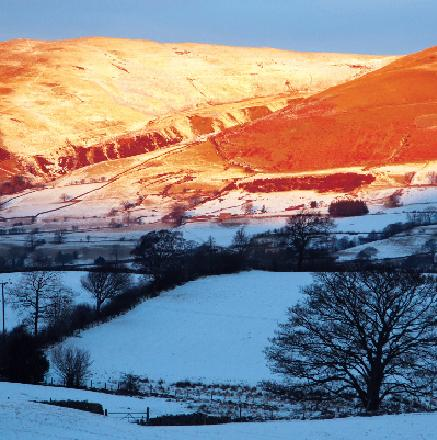 Sunshine on the Wintery Fells