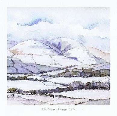The Snowy Howgill Fells