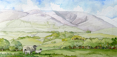 Howgills from Frostrow