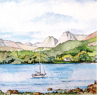 Langdales from Windermere