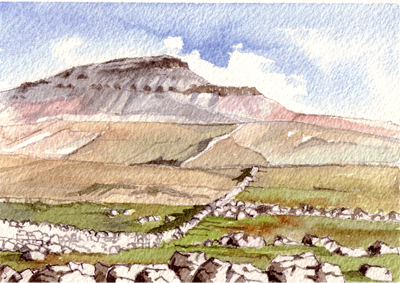 Pen-y-ghent in the Yorkshire Dales