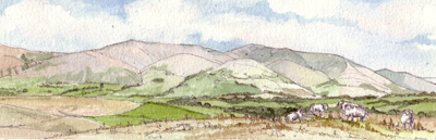 The Howgills from Frostrow Fell