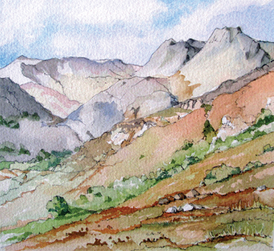 The Langdale Pikes (style 1)