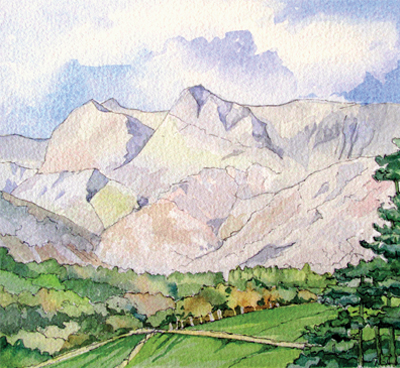 The Langdale Pikes (style 2)