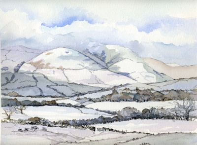 The Snowy Howgill Fells
