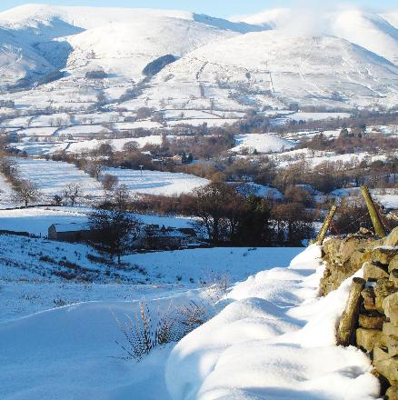 The Howgill Fells a Winter Wonderland
