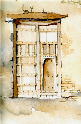 Traditional Omani Door